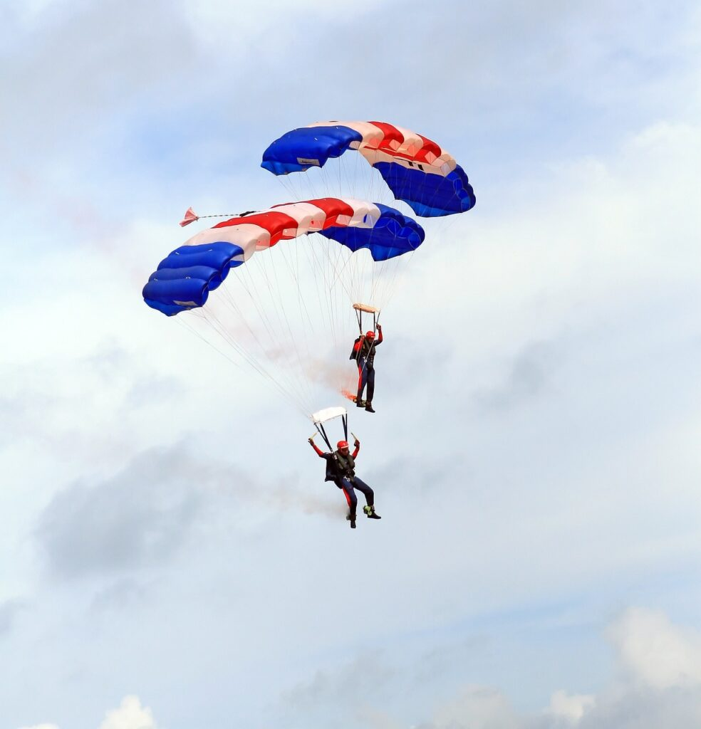skydiving, parachutes, airplane-1238276.jpg